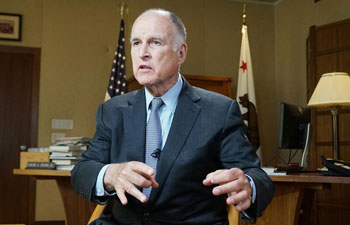 """Interview: California governor says climate cooperation with China """"imperative"""""""