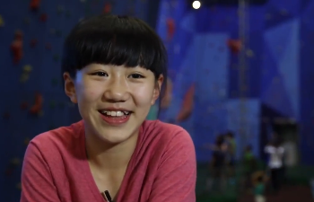 13-yr-old rock climber expects Olympic gold medal