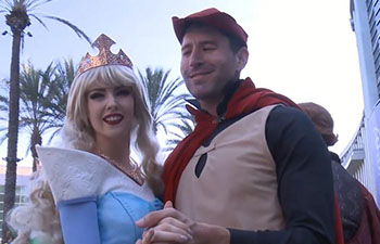 Fans dress up as Disney characters at D23 Expo