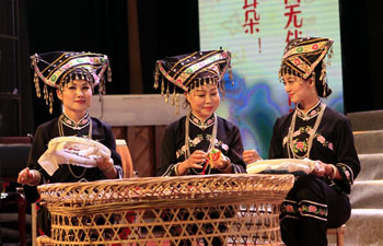 Folk song choir performs love song of Zhuang ethnic group in Yunnan