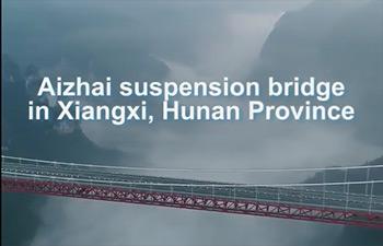 World's longest tunnel-to-tunnel bridge, in Hunan, China
