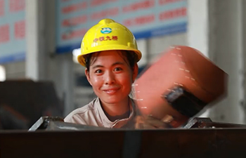 Chinese woman welder aiming for the stars