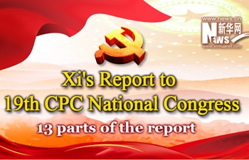 Infographic: 13 parts of Xi's report to 19th CPC National Congress