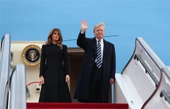 US President Donald Trump lands in China, starting three-day state visit
