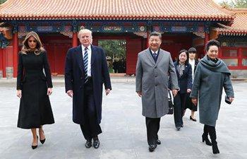 Xi and Trump visit Forbidden City