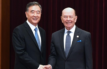 Chinese vice premier discusses trade with U.S. commerce secretary