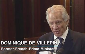 It's a new era for China: French ex-PM Dominique de Villepin