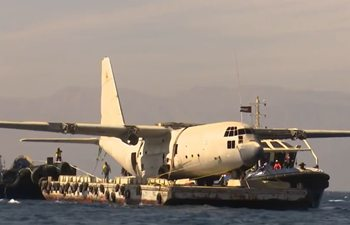 From sky to sea! C-130 Hercules aircraft lowered into sea in Jordan to create new coral reef