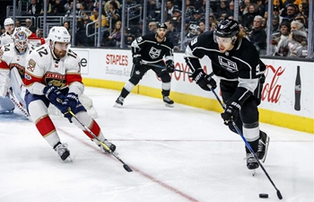 Los Angeles Kings beats Florida Panthers 4-0 in NHL hockey game