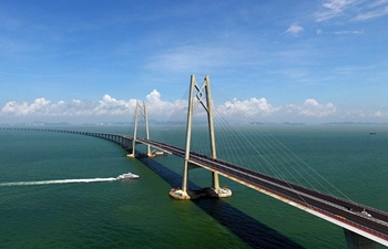 Project of Hong Kong-Zhuhai-Macao Bridge under construction