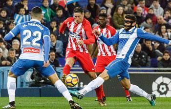 Spanish league: RCD Espanyol beat Atletico de Madrid 1-0