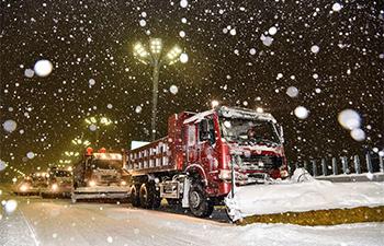 Heavy snowfall hits Urumqi, NW China's Xinjiang