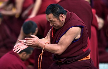 Hundreds of monks take part in dharma assembly in Lhasa