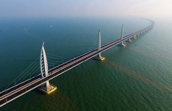 Major work of world's longest sea bridge completed