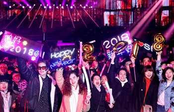 People celebrate new year in Shanghai, Hebei
