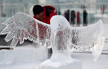 International ice sculpture competition held in NE China's Harbin