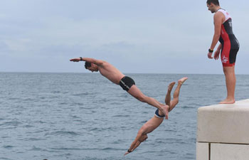 New Year Swimming held in Croatia