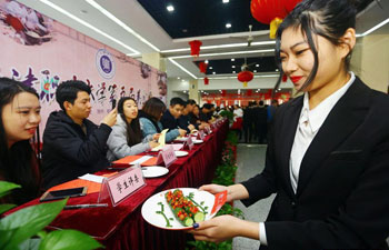 Campus cooking competition held in China's Tianjin