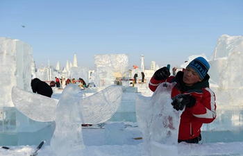 Highlights of 32nd Harbin int'l ice sculpture competition in NE China