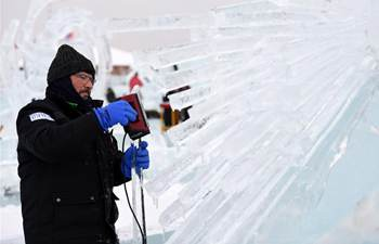 32nd Harbin int'l ice sculpture competition held in NE China