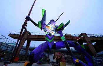 Giant statue of Japanese anime character seen in Shanghai