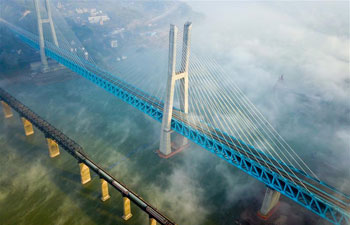 New Baishatuo Yangtze River railway bridge in SW China completed