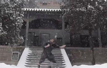 Shaolin Monk sweeps up a snowstorm