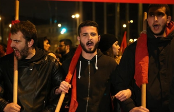 Greeks protest ahead of vote on new austerity measures