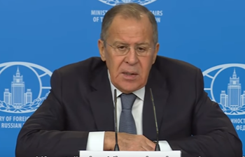 Russian FM touts direct dialogue between US, DPRK in annual press conference