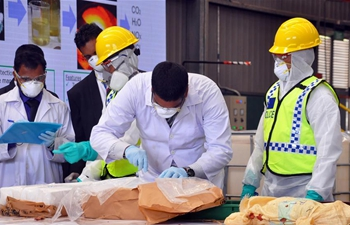 Sri Lankan authorities publicly dispose large haul of cocaine