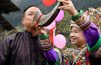 Dong people celebrate traditional New Year in Guizhou