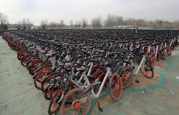 Shared-bicycles left idle due to reduction of utilization in cold weather