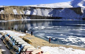Scenery of Band-e-Amir lake in Afghanistan