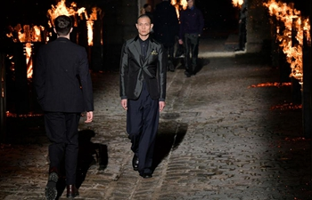Creations of Hermes presented at men's fashion week in Paris