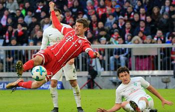 German Bundesliga: Bayern Munich beat SV Werder Bremen 4-2