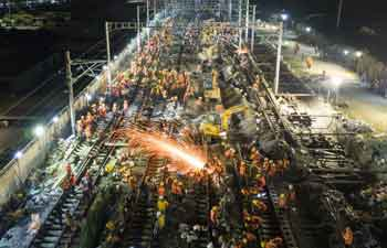 1,500 workers complete railway line upgrade in just 8.5 hours