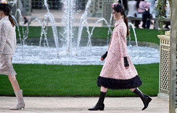 Creations of Chanel presented at Haute Couture 2018 in Paris
