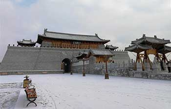 Snow-covered ancient town in north China's Hebei