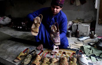 Traditional shoes shown in NW Pakistan