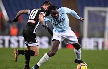 Lazio beats Udinese 3-0 in Serie A soccer match