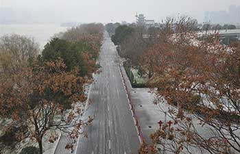 Juzizhou scenic spot in China's Hunan closed due to sleet, snowfall
