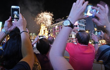Light-up ceremony held in Singapore's Chinatown