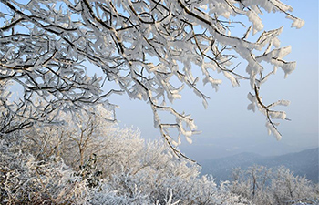 Rime scenery seen in parts of China