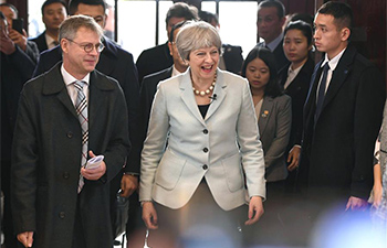 British PM Theresa May visits Wuhan University