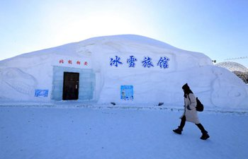 Hotel made of ice and snow in NE China's Heilongjiang