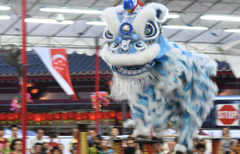 11th Int'l Lion Dance competition held in Singapore's Chinatown