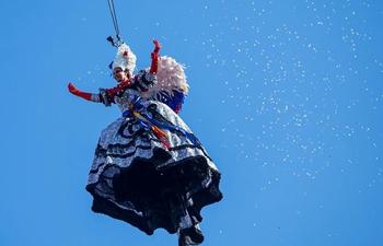 """Flight of the Angel"" seen at Venice Carnival"