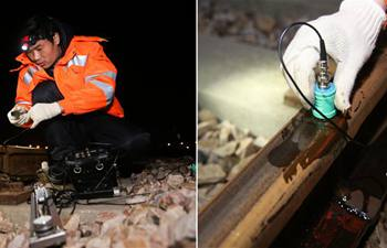 Engineers examine rail to ensure safety of trains and passengers
