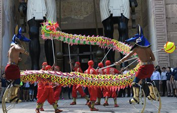 Dragon dance performed to mark Lunar New Year in Singapore
