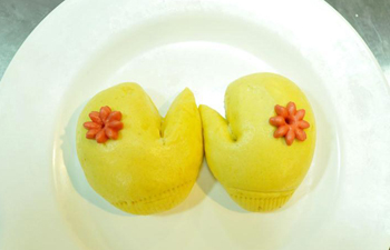 In pics: steamed buns made of flour, vegetable and fruit